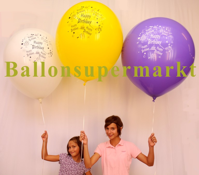 Riesenballons-Geburtstag-Gratulation