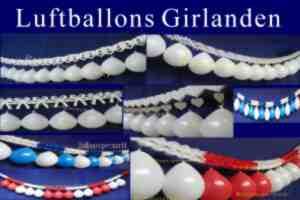 Luftballons Girlanden, Ballons an Girlanden