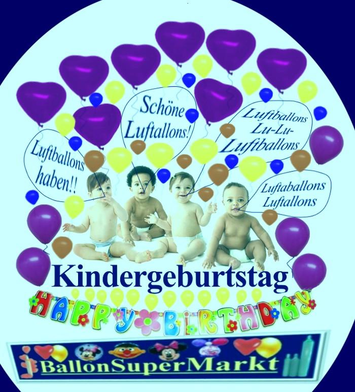 Luftballons Kindergeburtstag