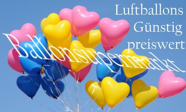 Farbige Herzluftballons
