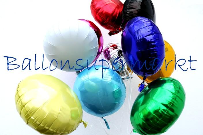Luftballons aus Folie zur goldenen Hochzeit, Zahl 50, mit der Mini-Helium-Einweg-Flasche