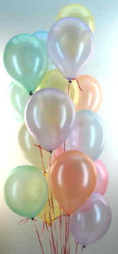 Luftballons Traube in Perlmuttfarben
