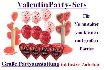 Valentinsparty: Valentin-Party-Sets-Dekoration-Liebe-Valentinstag-mit-Helium-Luftballons-Motiv-Liebe