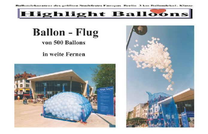 Ballonflug-Massenstart Luftballons