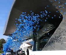 Luftballons Massenstart