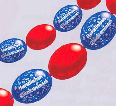 Luftballons Girlanden