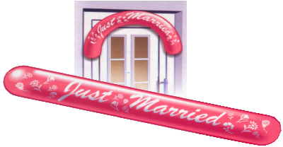 Latexbanner Just Married