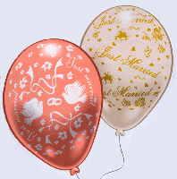 hochzeitsdekoration 9 ballons und helium zur hochzeit. Black Bedroom Furniture Sets. Home Design Ideas