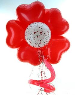 Ballonherzen Blume