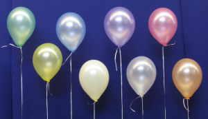 Luftballons Perlmutt