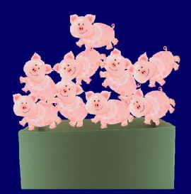 Glücksschweinchen zu Silvester
