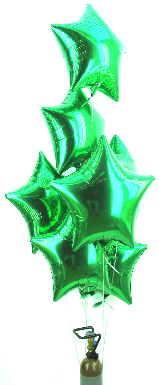 Set Sterne Grün Folienballons