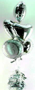Luftballons Silberne Hochzeit
