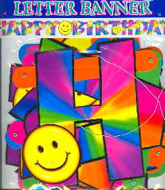 Geburtstag Smiley Banner Happy Birthday