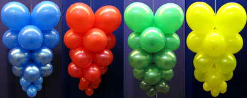 Partydekoration Ballondeko Luftballons Trauben bunt
