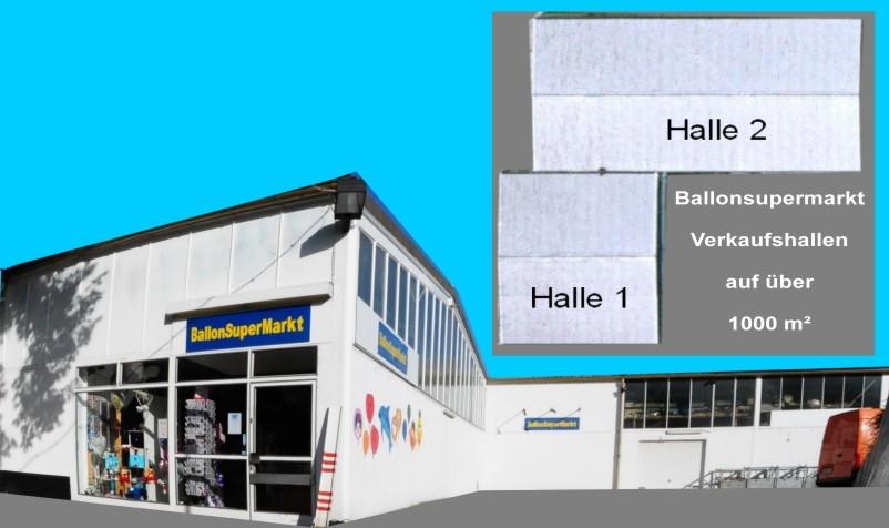 Ballonsupermarkt, Ballonshop auf 1.000 Quadratmetern, Ausstellung von Ballonen auf 600 qm!