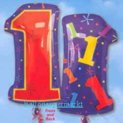 Kindergeburtstagszahlen-Luftballons