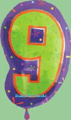 Folienballon Geburtstagszahl 9