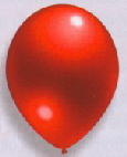 Latexballons Metallic rot