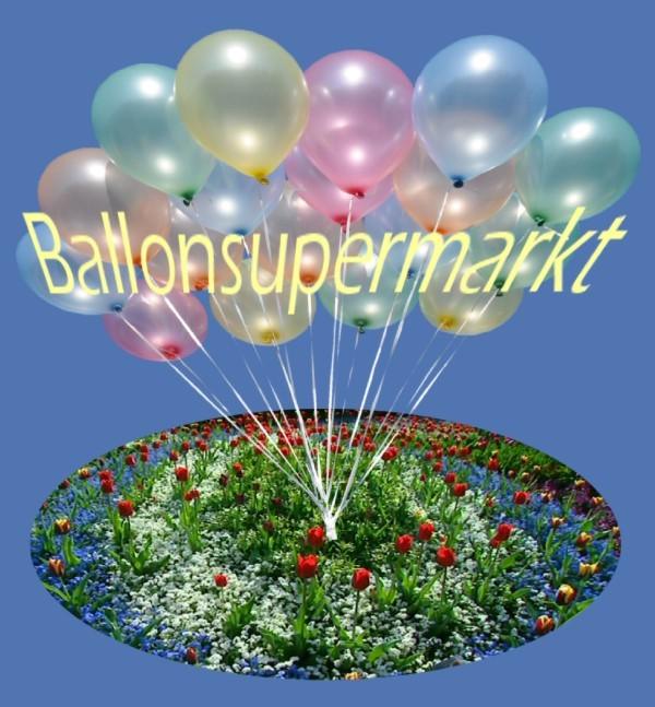 Luftballons in bunten Farben