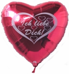 I love you Folienballon Heart: Liebe mit Herz