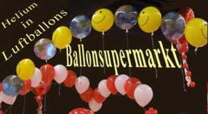 Helium, Ballons und Luftballons, Helium-Gas
