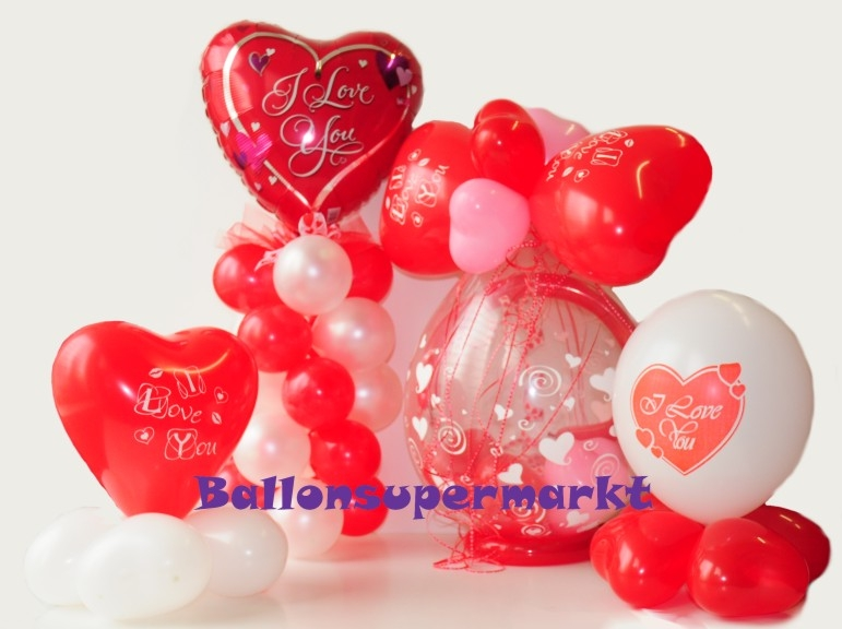 Valentinstag-Ballons