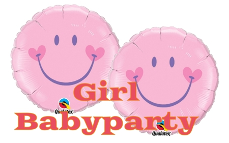 Girl Babyparty Smiley Luftballons