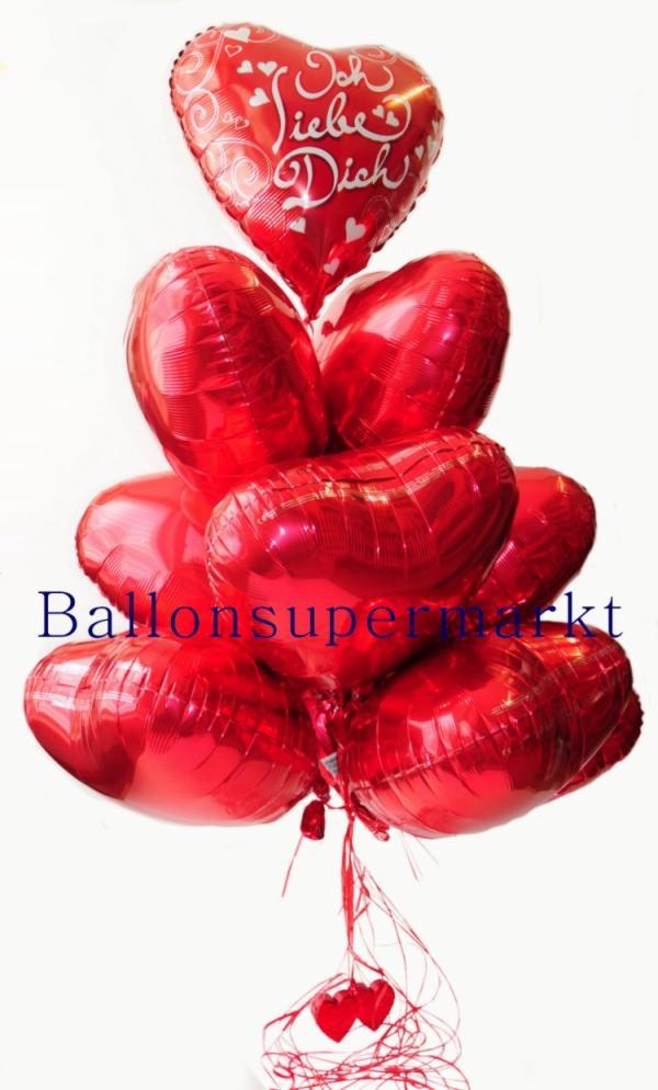 Schenken Sie Herzluftballons als Symbol der Liebe