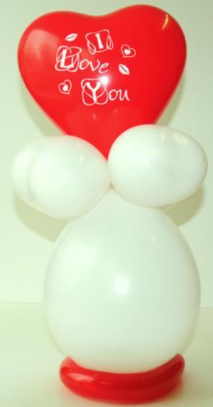 Herzluftballons Liebe