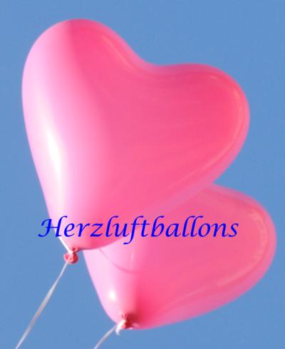 Herzluftballons in Liebe