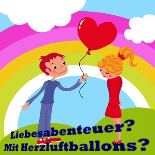 Liebesabenteuer mit Herzluftballons: Liebe schenken.