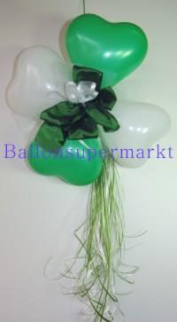 Herzluftballons-Dekoration