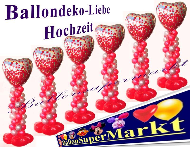 Ballondeko Hochzeit, Deko aus Luftballons