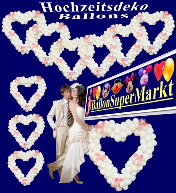 Hochzeitsdeko Ballons, Hochzeitsdekoration und Luftballons