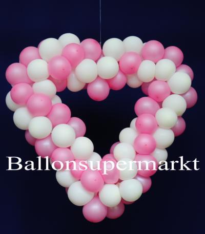 Luftballons Hochzeit: Dekoration mit Herzen aus Luftballons