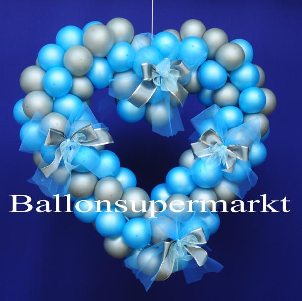Dekoration zu Hochzeiten mit Herzen aus Luftballons