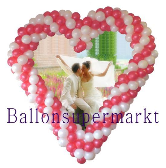 Herz aus Ballons, Hochzeitsdekoration