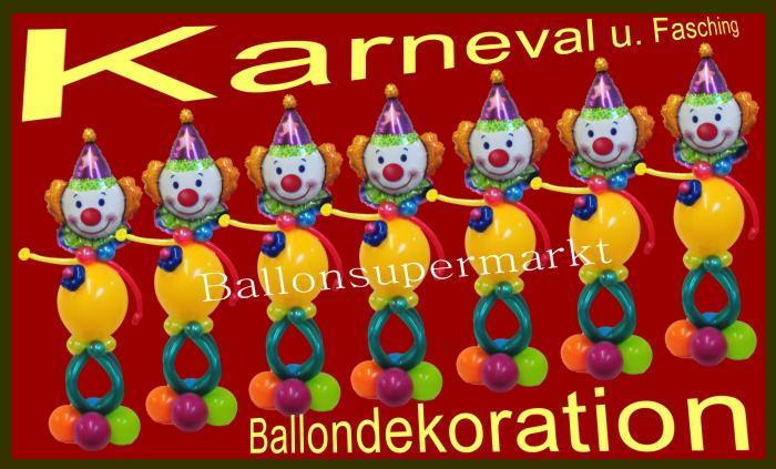 Luftballons Karneval Fasching: Ballondeko Karneval