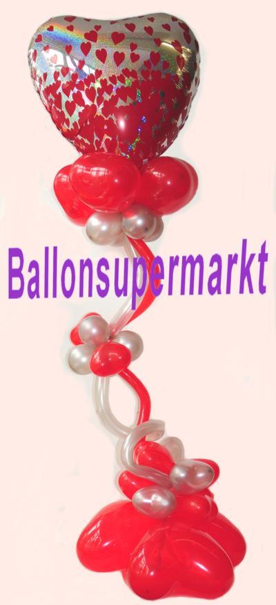 Luftballons-Herzluftballons-Herzballons