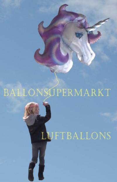 Einhorn Luftballons vom Ballonsupermarkt