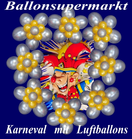 Karneval mit Luftballons und Dekoration