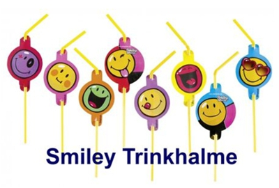 Smiley Party-Trinkhalme