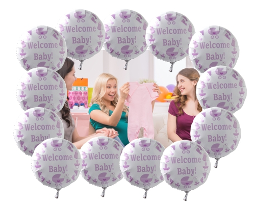 welcome baby, babyparty luftballons
