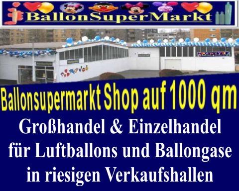 Der Fachmarkt Ballonsupermarkt beliefert sie mit Ballondekorationen und Dekorationen aus Luftballons